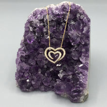 Load image into Gallery viewer, Diamond and Gold Heart Necklace
