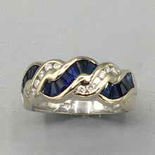 Load image into Gallery viewer, Sapphire and Diamond Ring