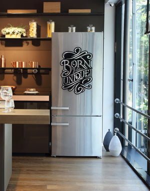 'Unique' Big Size Decorative Fridge Magnet (Black Color) 47cm X 68cm