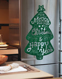 'Christmas Tree' Big Size Decorative Fridge Magnet (Green Color) 57cm x 94cm