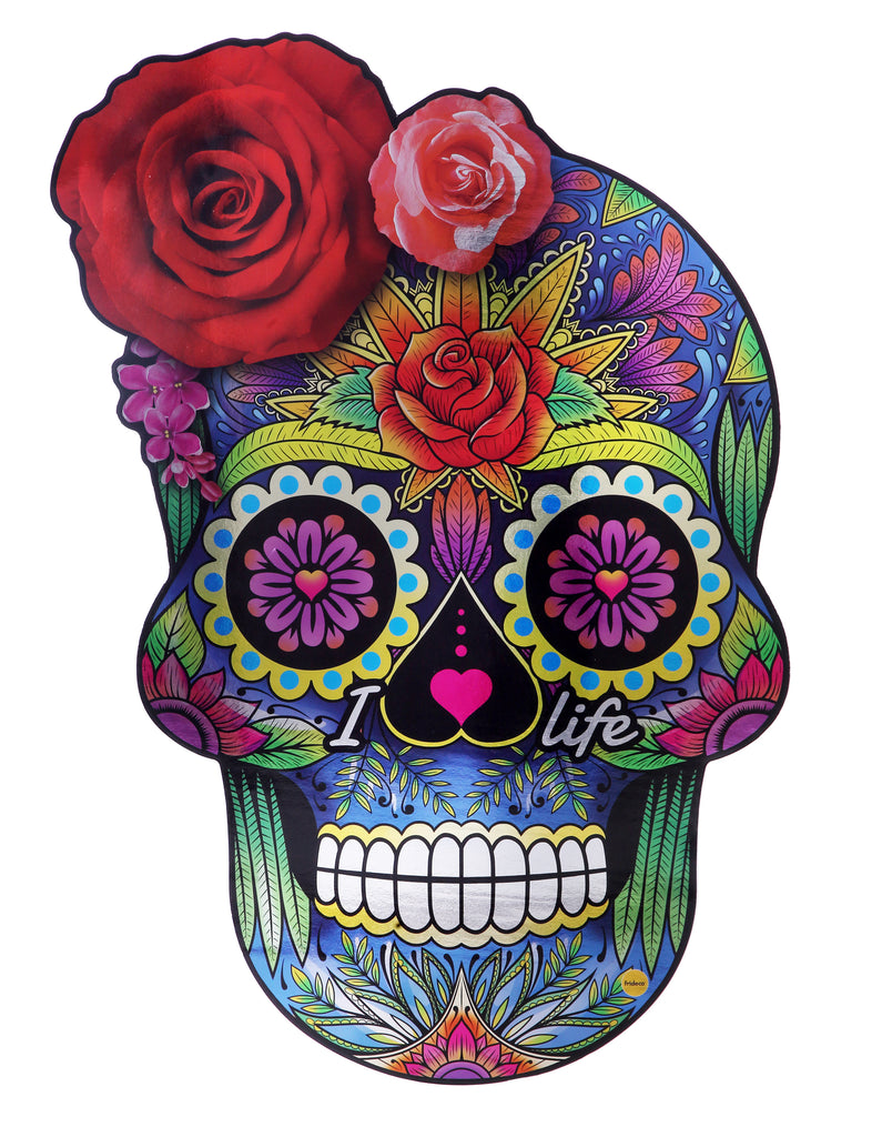 'Sugar Skull' Big Size Decorative Fridge Magnet, 45cm x 67cm