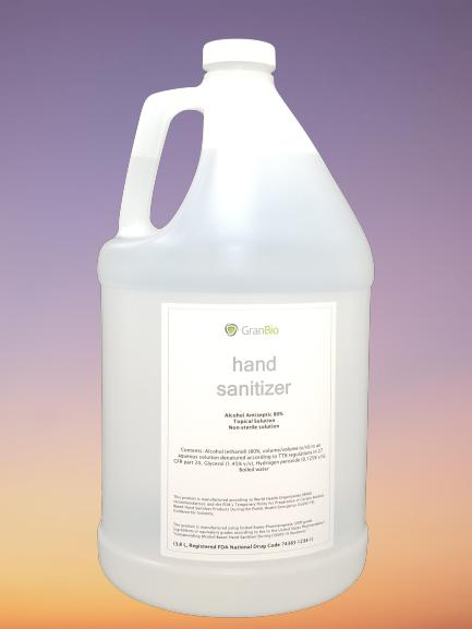 Hand Sanitizer - Alcohol based solution available in 1-gallon and 50-gallons size.