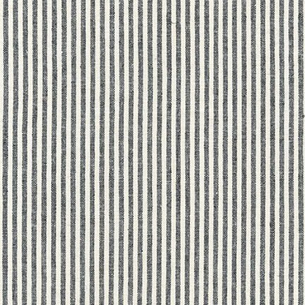 Essex Yarn Dyed Linen | Classic Woven in Black Stripes