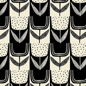 Patchwork Tulips in Charcoal | Perennial by Sarah Golden