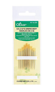 Gold Eye Embroidery Needles | Size 3/9