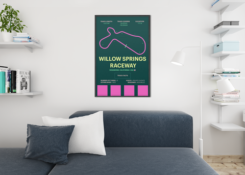 Willow Springs track wall art