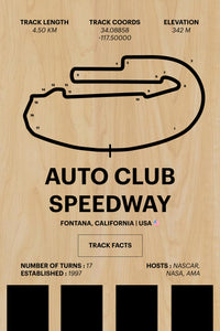 Auto Club Speedway - Corsa Series - Wood