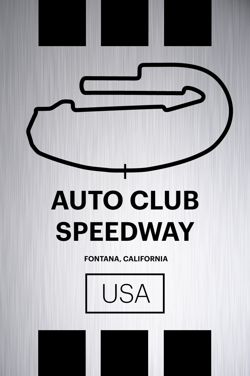 Auto Club Speedway - Pista Series - Raw Metal