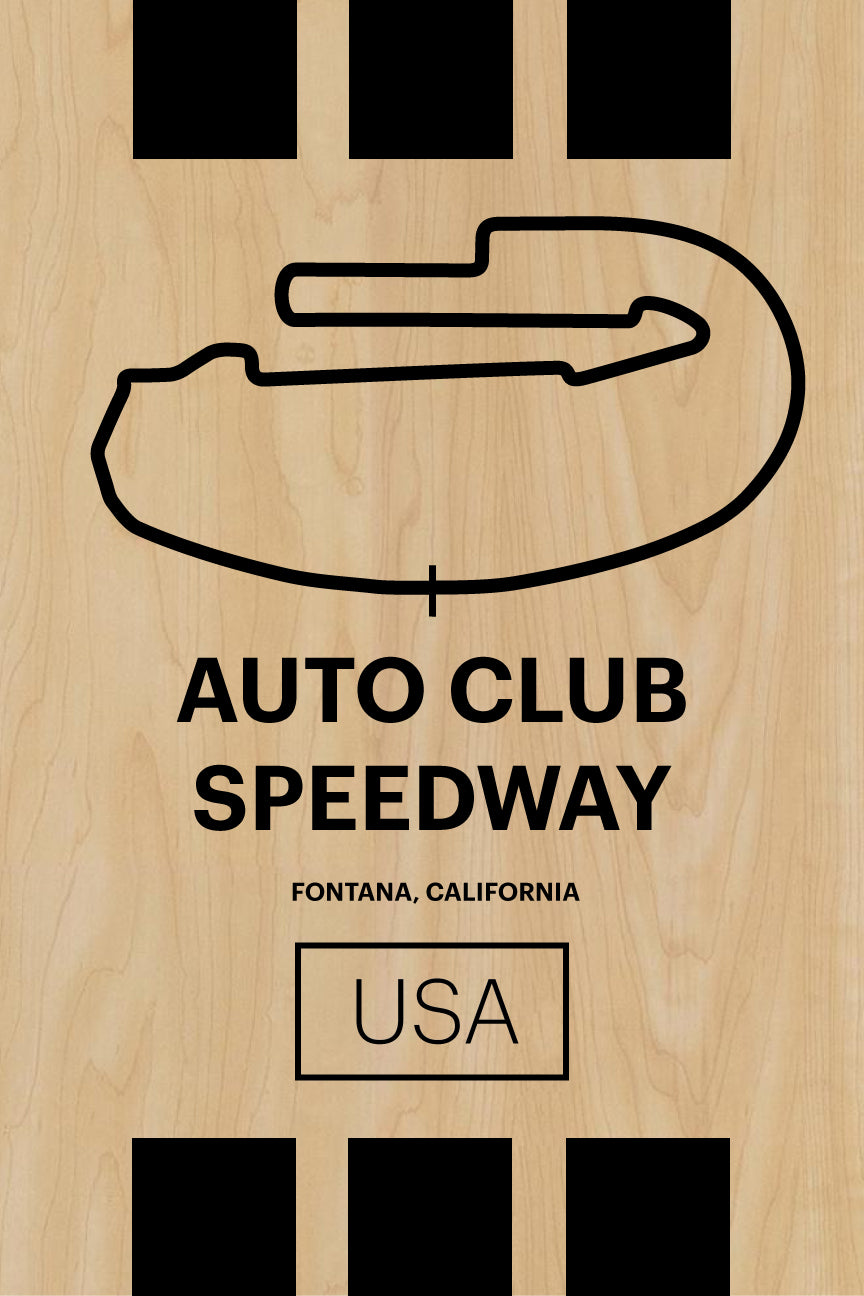 Auto Club Speedway - Pista Series - Wood