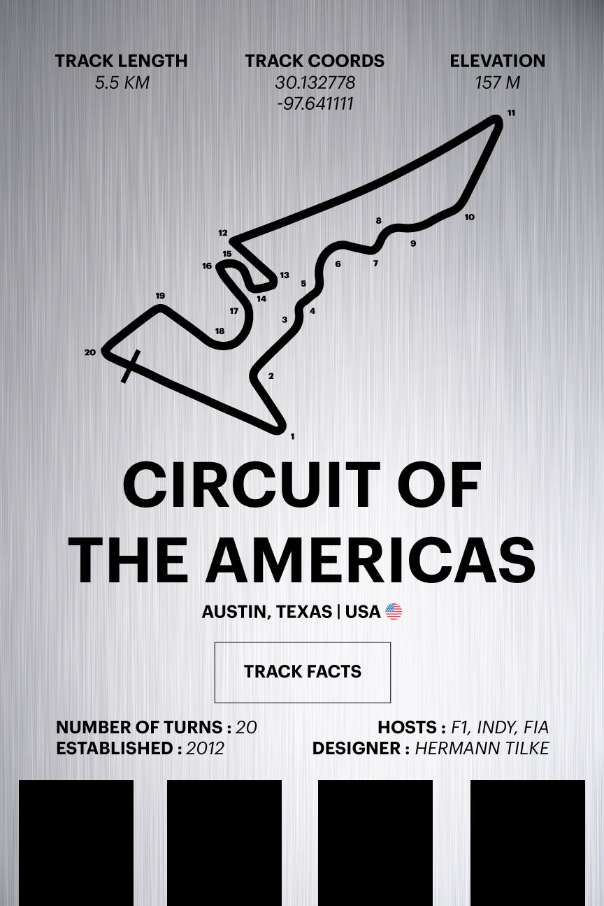 Circuit of the Americas - Corsa Series - Raw Metal