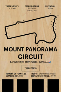 Mount Panorama Circuit - Corsa Series - Wood