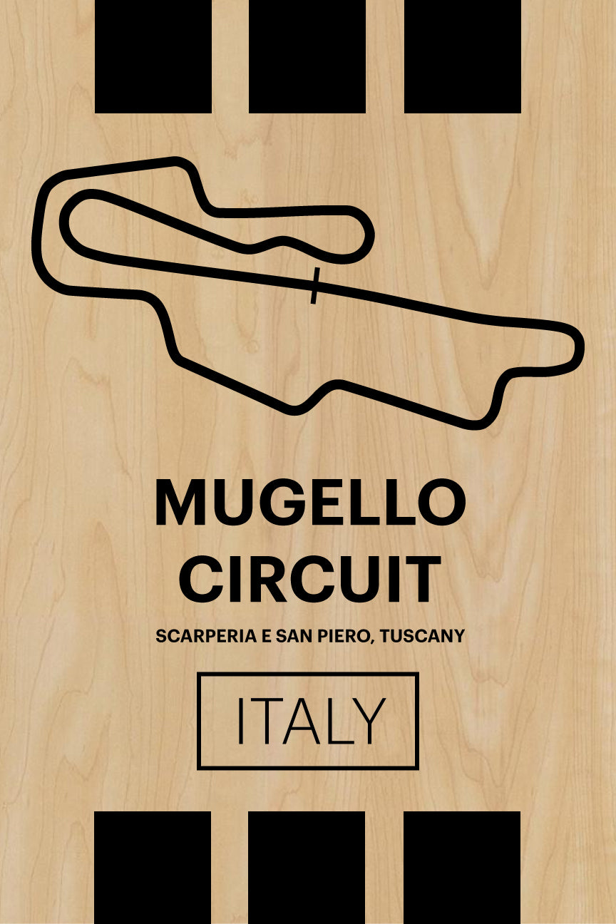 Mugello Circuit - Pista Series - Wood