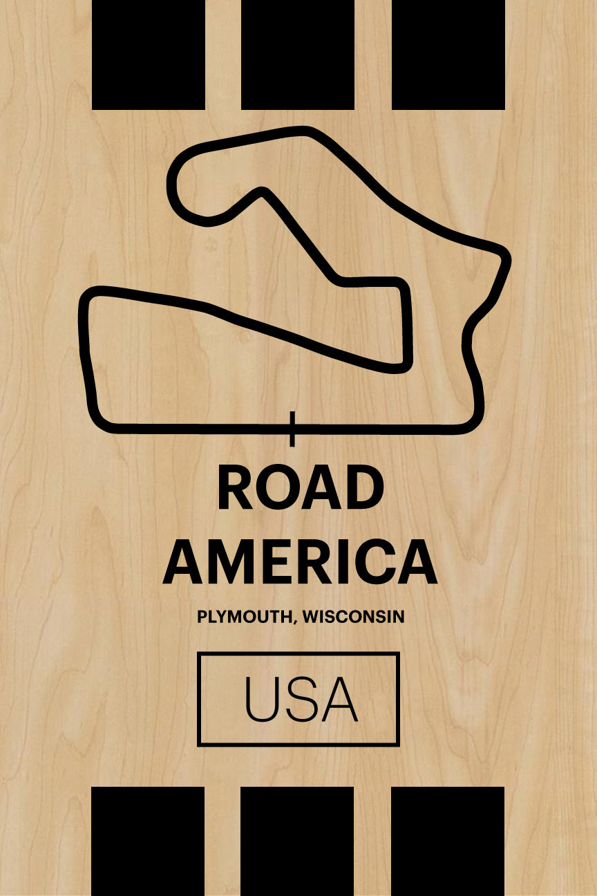 Road America - Pista Series - Wood