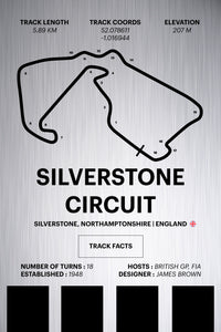Silverstone Circuit - Corsa Series - Raw Metal