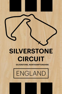 Silverstone Circuit - Pista Series - Wood