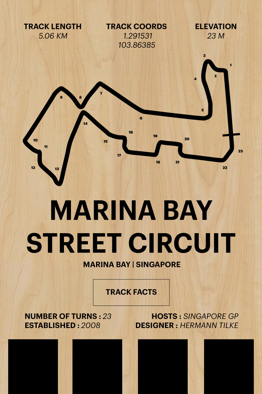 Marina Bay Street Circuit - Corsa Series - Wood