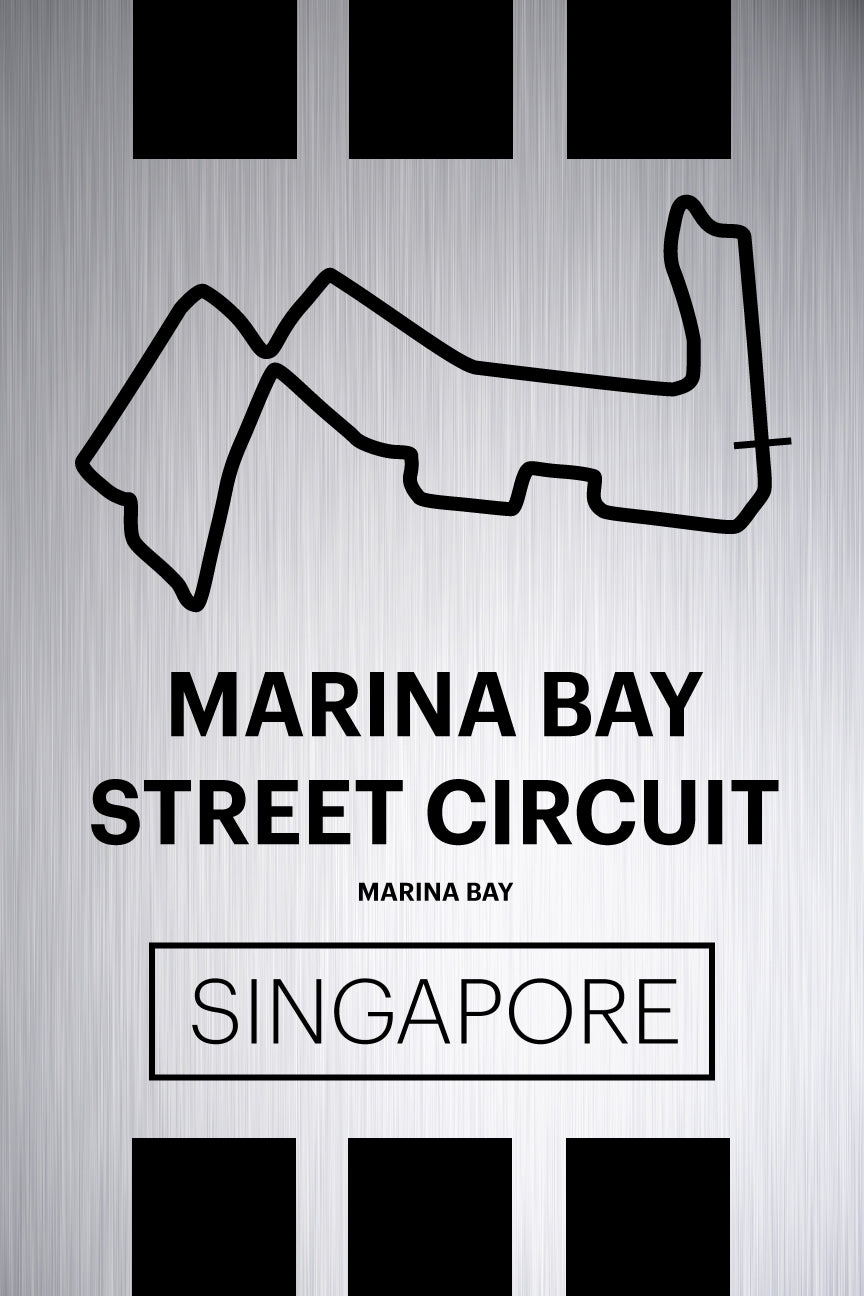 Marina Bay Street Circuit - Pista Series - Raw Metal