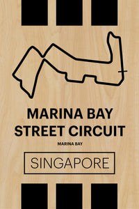 Marina Bay Street Circuit - Pista Series - Wood