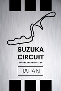 Suzuka Circuit - Pista Series - Raw Metal
