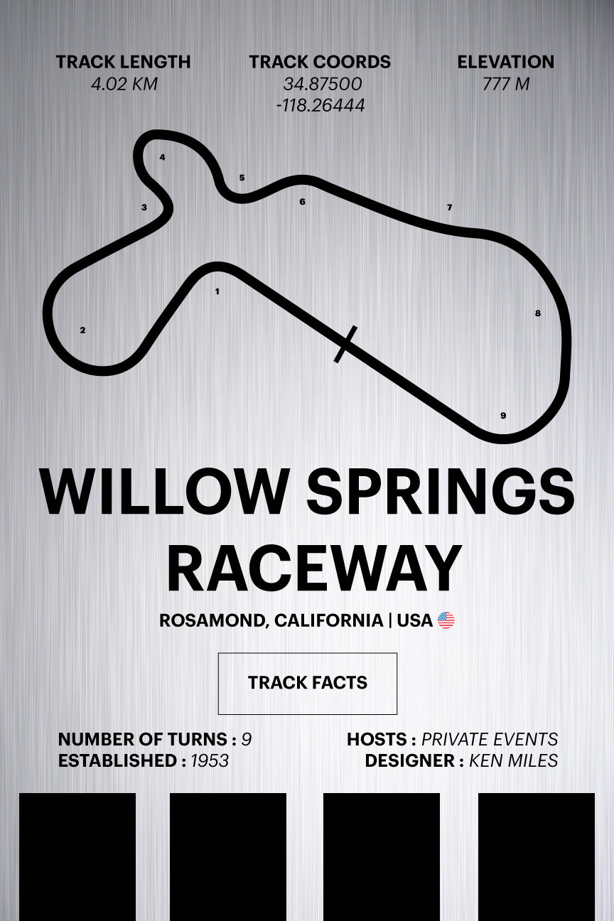 Willow Springs Raceway - Corsa Series - Raw Metal
