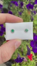 Load and play video in Gallery viewer, Emerald Stud Earrings
