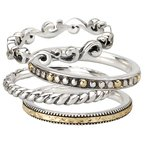 Two-tone Ladies Fashion Stackable Rings