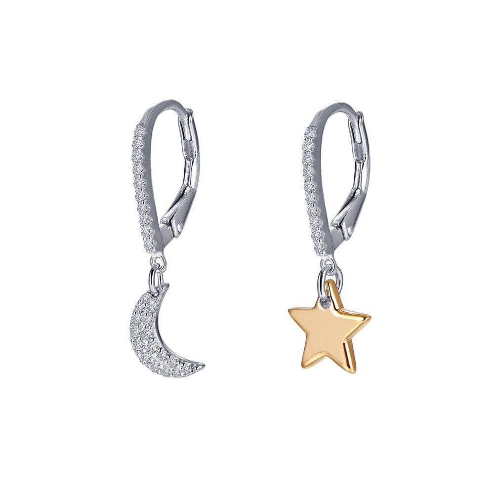 Lafonn Moon and Star Earrings