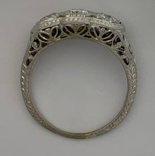 Load image into Gallery viewer, Art Deco 14K White Gold Diamond Ring