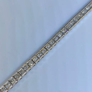 14K White Gold 2cttw Diamond Tennis Bracelet