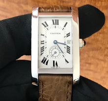 Load image into Gallery viewer, Cartier Tank Americaine 18k White Gold  Watch