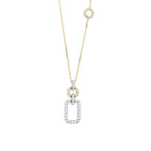 Load image into Gallery viewer, 14K White and Yellow Gold Geometric Diamond Necklace