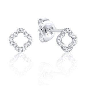 Luvente Petite Clover Diamond Earrings