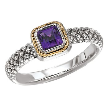 Ladies Fashion Amethyst Ring