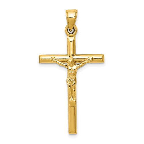 14k Hollow Crucifix Pendant