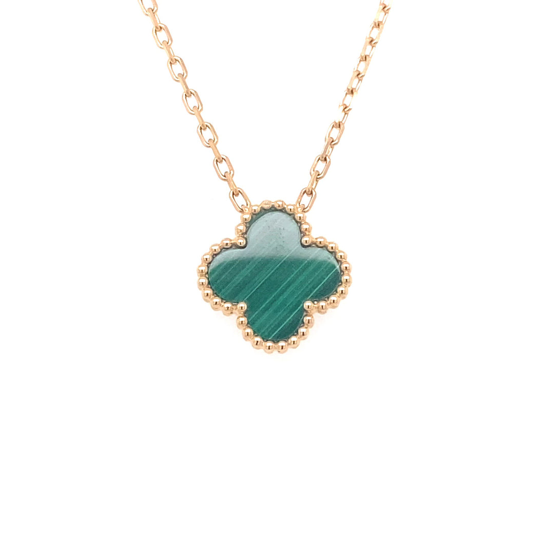 14k Yellow Gold & Malachite Pendant