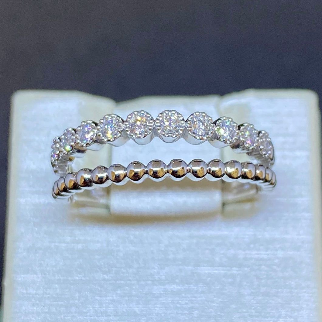 14K White Gold Split Ring