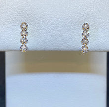 Load image into Gallery viewer, 14K White Gold Petite Bar Earrings