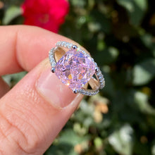 Load image into Gallery viewer, White Gold Pink Topaz and Diamond Ring