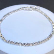 Load image into Gallery viewer, 14K White Gold 1.11cttw Diamond Tennis Bracelet