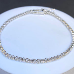 14K White Gold 1.11cttw Diamond Tennis Bracelet