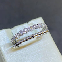 Load image into Gallery viewer, 14K White Gold Split Ring