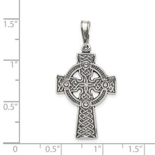 Load image into Gallery viewer, Sterling Silver Antiqued Celtic Cross Pendant