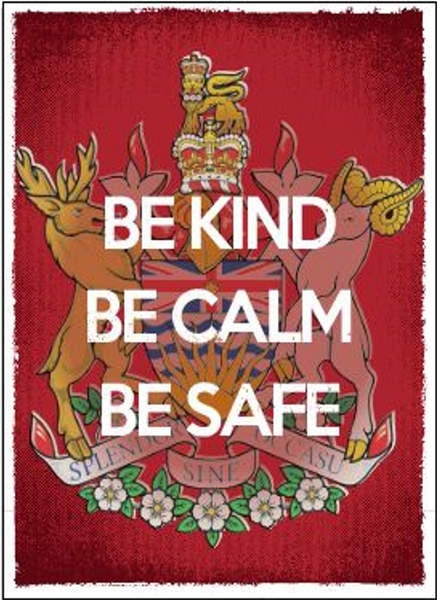 'Be Kind, Be Calm, Be Safe' Lawn Sign