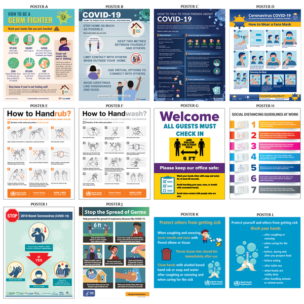 Informative Covid-19 Adhesive Posters