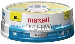 Maxell - 4.7GB DVD-RW (15-ct Spindle)