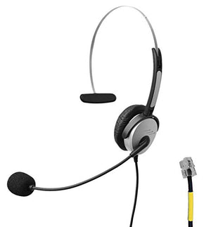 Voistek A2H10DKXT Mono Call Center Telephone Headset with Noise Canceling Microphone for Grandstream GXP14XX GXP2140 GXV3275 Yealink SIP-T19P T48G Snom 320 870 Panasonic KX-T Series Avaya Cisco Altige