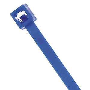 Cable Tie, Standard, 14.5 in, Blue, PK100