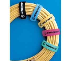Color-Coded Cable Management Straps, 6 L x .625