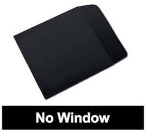 mediaxpo 100 Black Paper CD Sleeves with Flap (No Window)