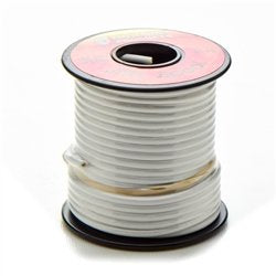 16 Gauge Copper Wire - 35 Foot Spool - WHITE
